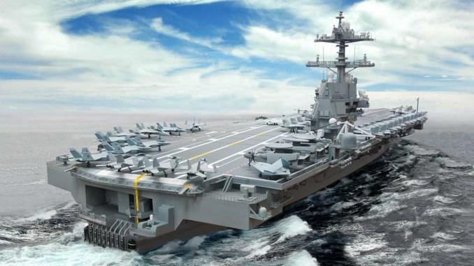 حاملة الطائرات الأميركية الأحدث USS Gerald Ford