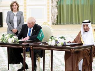 توقيع العقود العسكرية بين السعودية وأميركا