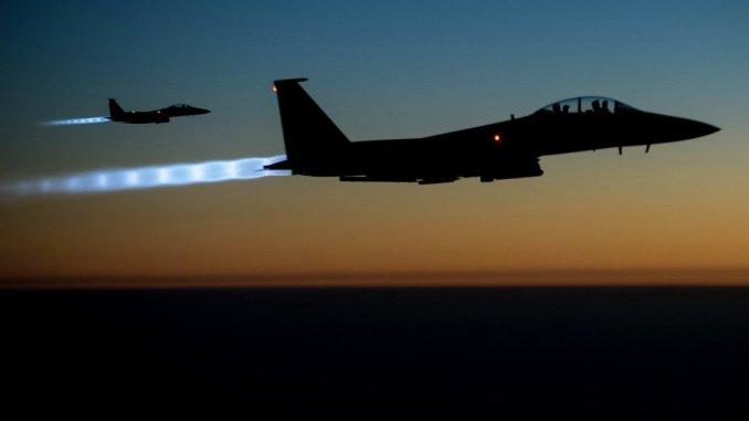 مقاتلات التحالف الدولي في سوريا