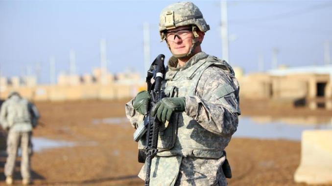 عنصر من القوات الأميركية في سوريا