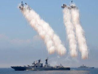 إطلاق صواريخ روسية