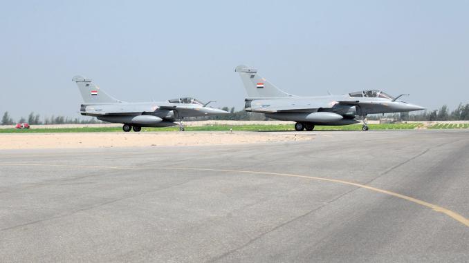 وصول الدفعة الرابعة من مقاتلات رافال المصرية