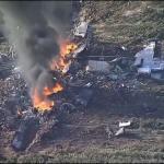 لقطة من تحطم طائرة كي سي -130 الأميركية
