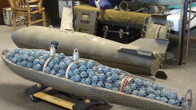 القنبلة العنقودية من الأسلحة المحظورة