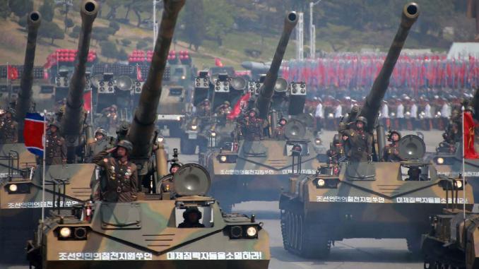 عرض عسكري لكوريا الشمالية