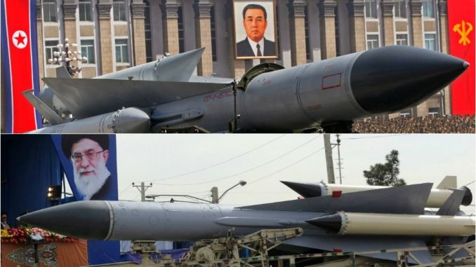 صاروخان إيراني وكوري شمالي