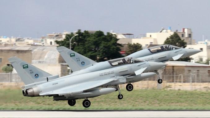 مقاتلتا يوروفايتر تايفون تابعتان لسلاح الجو السعودي