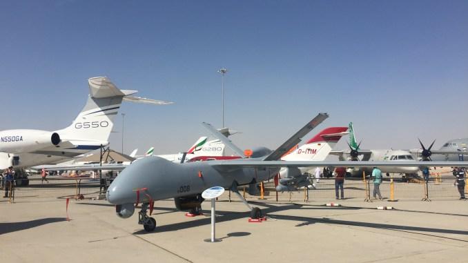 """طائرة """"أنكا"""" من دون طيار خلال فعاليات معرض دبي للطيران 2017 (صورة خاصة)"""