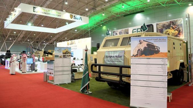 """سيارة نقل الأفراد المسلّحة من إنتاج سعودي خلال معرض """"القوات المسلّحة"""" الماضي"""