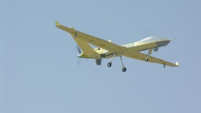 طائرة Wing Loong II بدون طيار خلال الاختبار