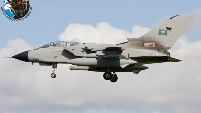 مقاتلة تورنيدو تابعة للقوات الجوية الملكية السعودية (The Aviationist)