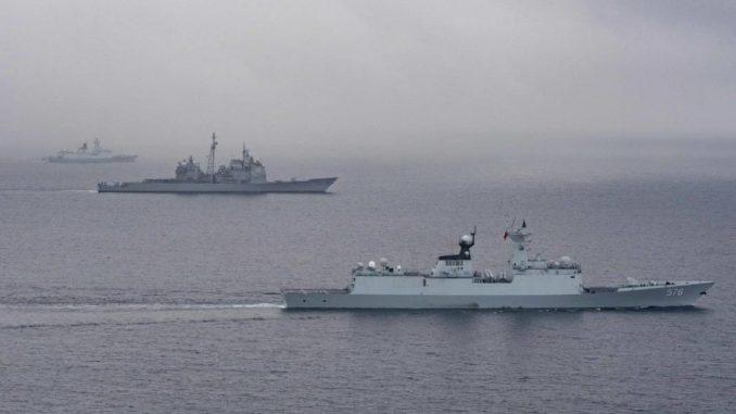 سفن حربية أميركية وصينية تناور بعيداً عن كاليفورنيا (البحرية الأميركية)