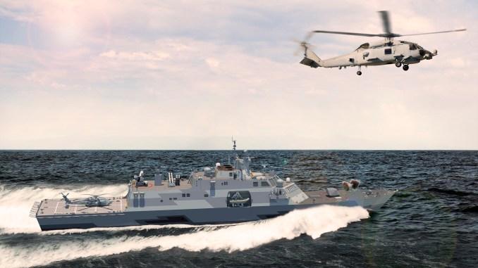 نموذج عن سفينة السطح القتالية متعددة المهام MMSC (شركة لوكهيد مارتن)
