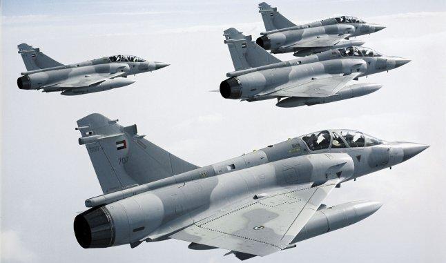 """صورة توضيحية لطائرات """"ميراج-2000"""" الإماراتية (Dassault)"""