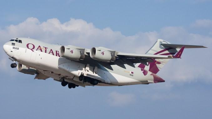 """طائرة """"سي-17 غلوبماستر"""" تابعة للقوات القطرية"""