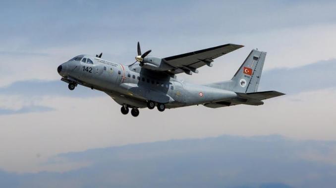 طائرة كاسا تابعة لسلاح الجو التركي (وكالة الأناضول)
