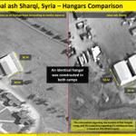 """صورة للأقمار الاصطناعية نشرتها قناة """"فوكس نيوز"""" في 27 شباط/فبراير الماضي الأميركية تُظهر تشييد إيران لقاعدة عسكرية في سوريا (فوكس نيوز)"""