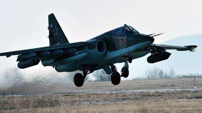 """مقاتلة """"سو-25"""" الهجومية (صورة أرشيفية)"""