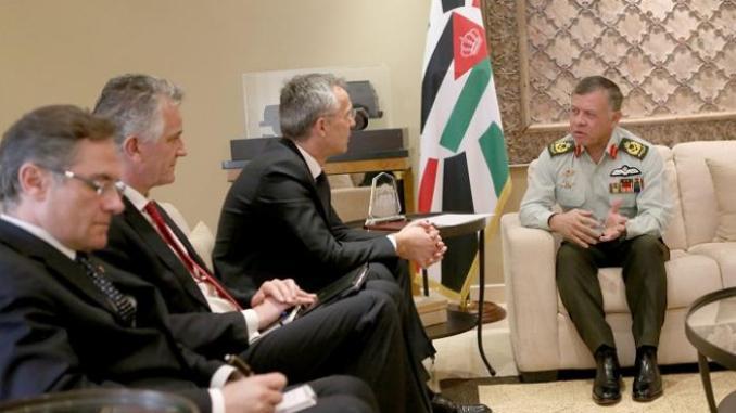 ملك الأردن يستقبل أمين عام حلف الناتو في 6 آّذار/ مارس (وكالة بترا للأنباء)
