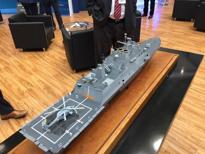 سفينة سطح قتالية متعددة المهام MMSC في جناج لوكهيد مارتن خلال ديمدكس 2018 (الأمن والدفاع العربي)