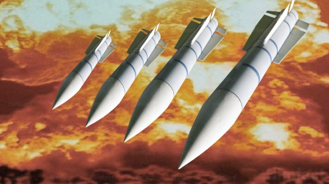 صورة توضيحية عن صواريخ نووية