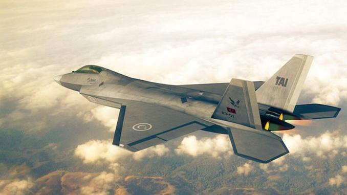 """نموذج عن المقاتلة التركية المحلية الصنع التي ستحلّ مكان طائرات """"أف-16"""" في سلاح الجو التركي (وكالة الأناضول)"""
