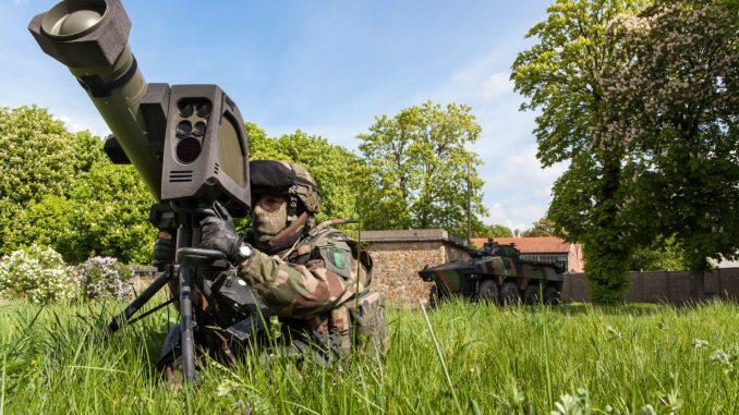 نظام الصواريخ MMP الفرنسي المشغّل حالياً مع الجيش الفرنسي (شركة MBDA)