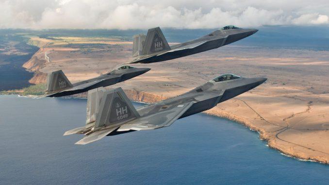 مقاتلات إف-22 الأميركية