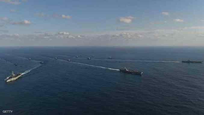 أسطول أميركي خلال مناورات (صورة أرشيفية)
