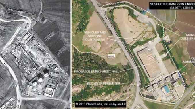 صور التقطت بالأقمار الإصطناعية كشفت أن لكوريا الشمالية موقعاً سرياً لتخصيب اليورانيوم (موقع سكاي نيوز عربية)