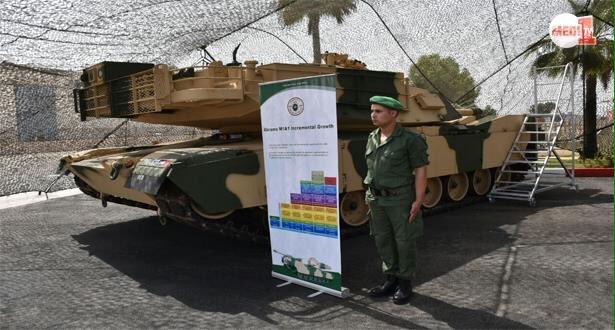 دبابة أبرامز الأميركية أثناء تسليمها للمغرب في أب/ أغسطس 2018
