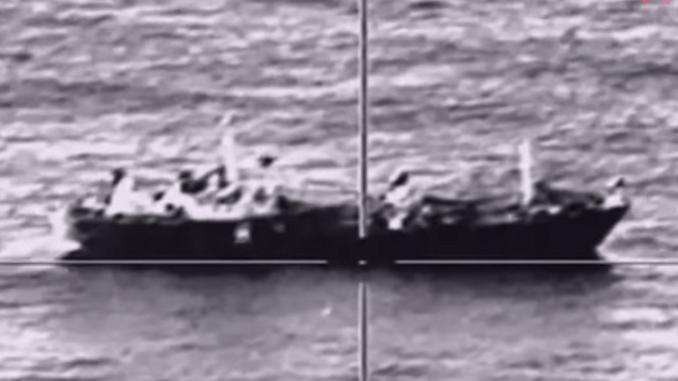 """لقطة من فيديو إطلاق صاروخ من قاذفة """"سو-34"""""""
