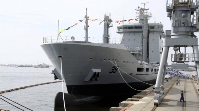 حفل تدشين سفينة PNS MOAWIN الباكستانية في كراتشي في 16 تشرين الأول/ أكتوبر