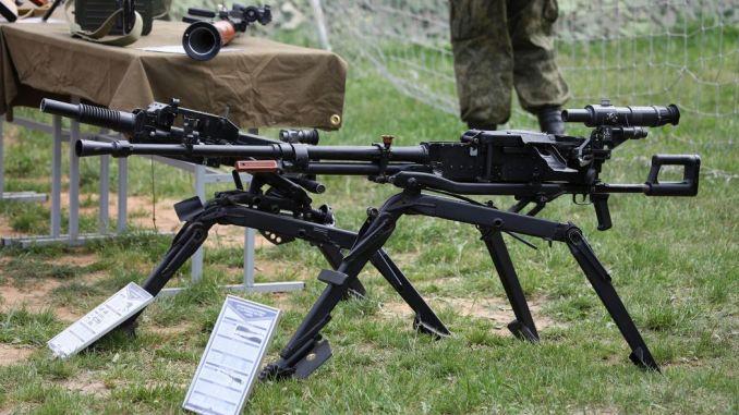 لقطة للمدفع الرشاش NSV الروسي (صورة أرشيفية)
