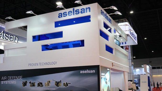 منصة عرض شركة أسيلسان التركية في معرض دفاعي
