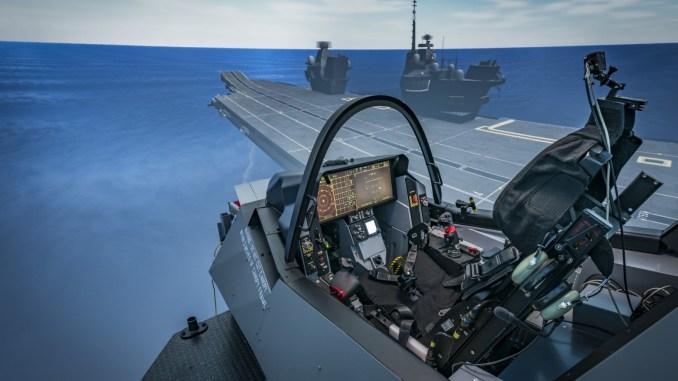 لقطة تصويرية لأنظمة محاكاة الطيران داخل مقاتلة الشبح أف-35 (International Business Times)