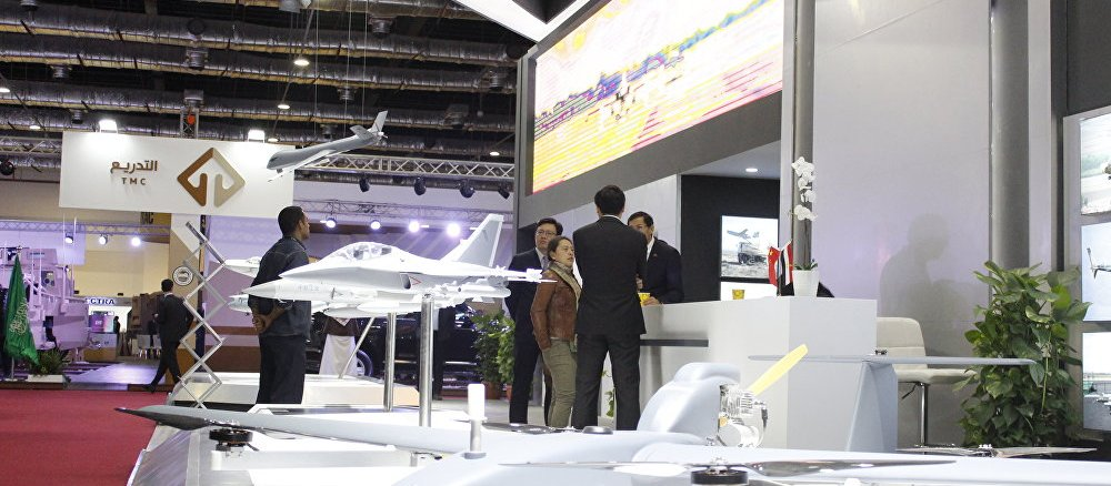 منصة عرض الأسلحة الصينية في معرض EDEX 2018