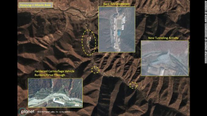 صورة للأنشطة في قاعدة صواريخ كورية شمالية (سي أن أن)