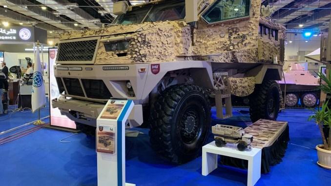 مركبة ST-500 المصرية خلال فعاليات معرض إيدكس 2018 في القاهرة (الأمن والدفاع العربي - شيرين مشنتف)