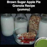 brown sugar apple pie granola recipe from thishappymom.com