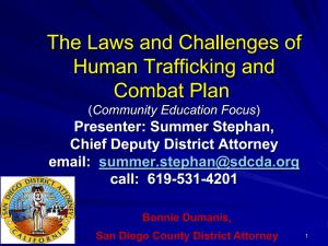 Human Trafficking & Combat Plan