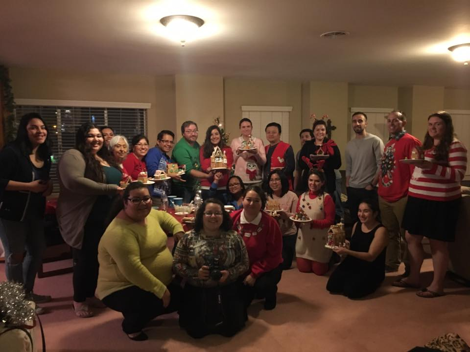 YAM UGLY SWEATER GINGERBREAD HOUSE PARTY