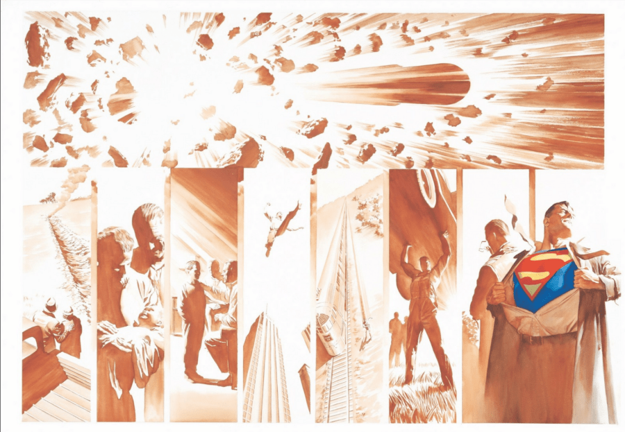 Alex Ross SDCC Exclusive Artwork - Origins: Superman