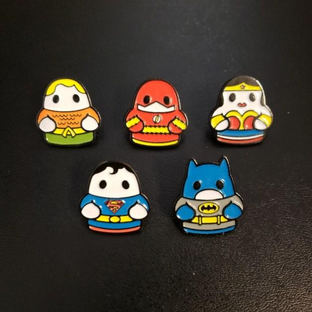 Fugitive Toys Superman Justice League Pins SDCC exclusive