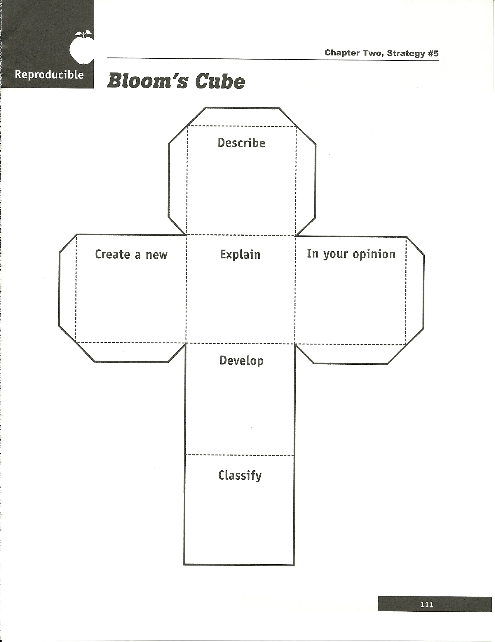 Bloom S Taxonomy Cube Template