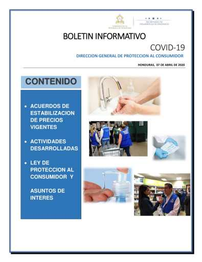 Boletin Informativo Marzo y Abril covid19 0