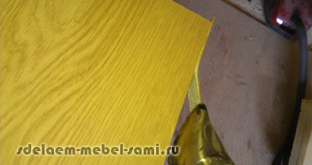 Edge pvc 2 mm with glue  Types and the process of gluing on the