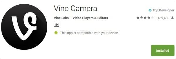 Приложение Vine Camera