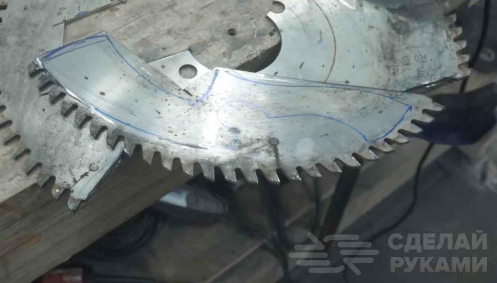 Нож необычной формы из дисковой пилы для циркулярки