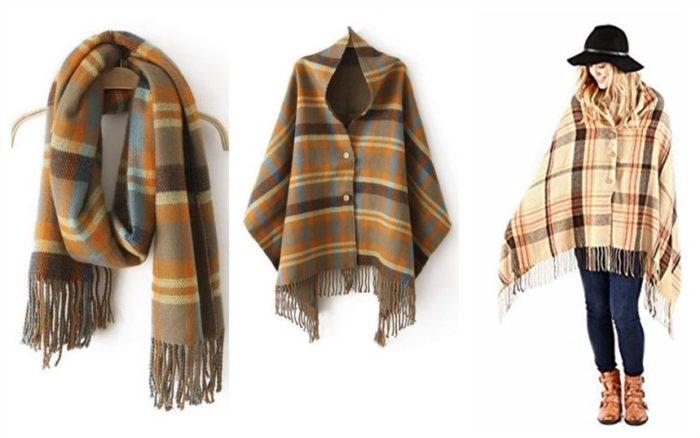 """Пальто из шарфа """"Барберри"""""""